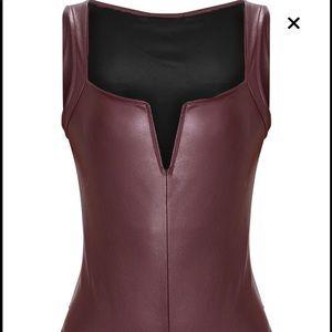 Tops - Prettylittlething Burgundy TBar Bodysuit